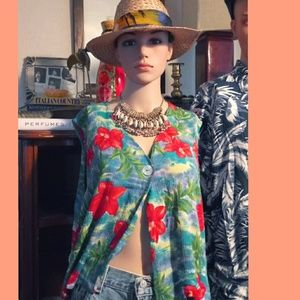 Vintage hibiscus  Hawaiian open top